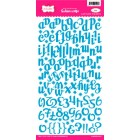 Pink Paislee - Fashion Script Alpha Stickers - Blue